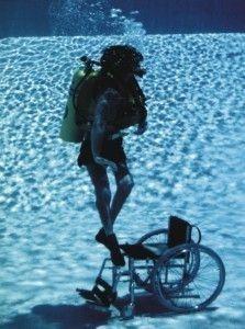 Plongeur en fauteuil