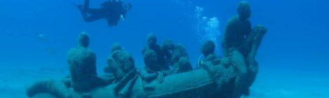 Muséo Atlantico : le premier musée sous-marin d'Europe du sculpteur Jason deCaires Taylor